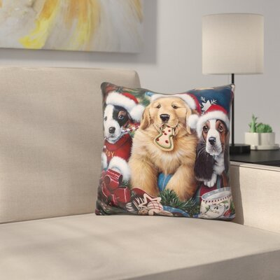 Sawry Santa Paws Throw Pillow