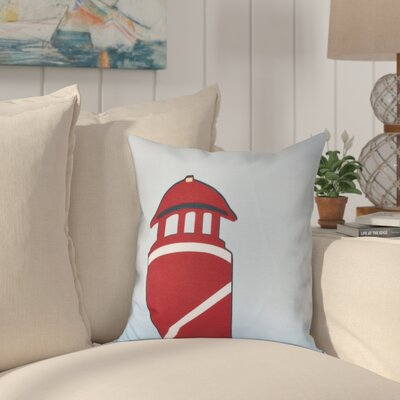 Hancock Safe Harbor Geometric Print Outdoor Throw Pillow Size: 20 H x 20 W, Color: Red