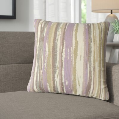 Jordynn Stripes Throw Pillow Color: Lavender