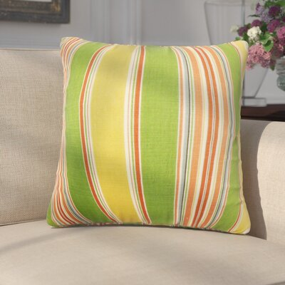 Emelie Stripes Cotton Throw Pillow Color: Green