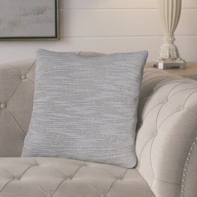 Lyell Throw Pillow Color: Silver Gray, Fill Material: Down Fill