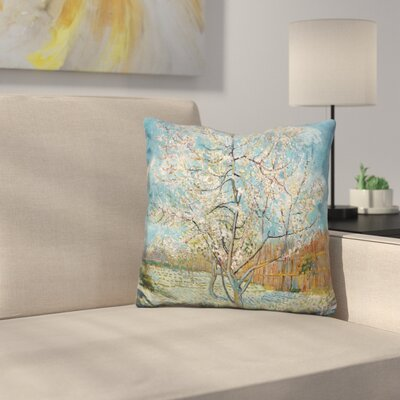 The Peach Tree Throw Pillow