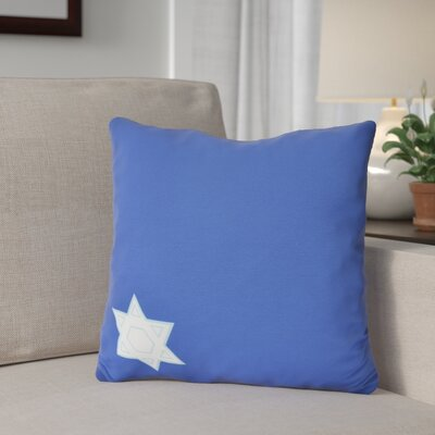 Stars Corner Geometric Print Outdoor Throw Pillow Size: 20 H x 20 W, Color: Blue