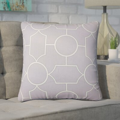 Syrianus Geometric Cotton Throw Pillow Color: Lavender