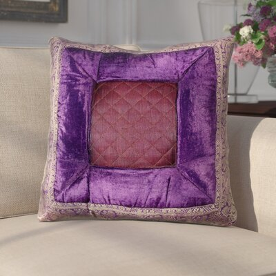 Encina Silk Throw Pillow Color: Purple