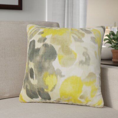 Jerica Floral Linen Throw Pillow Color: Yellow