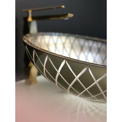 Atelier Xeni Crystal Glass Circular Vessel Bathroom Sink