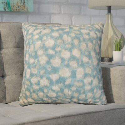 Kibby Throw Pillow Color: Aqua, Size: 18 x 18
