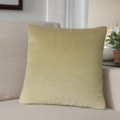 Theriault Solid Cotton Throw Pillow Color: Olive