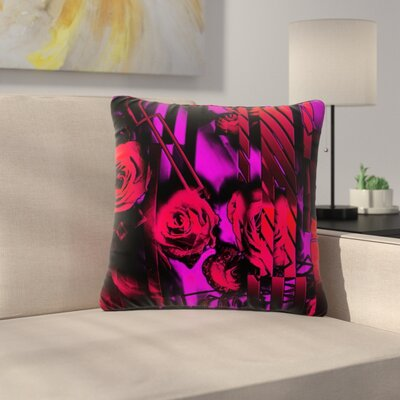 Dawid Roc Roses-Flower Geometric Outdoor Throw Pillow Size: 16 H x 16 W x 5 D