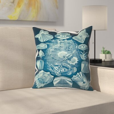 Haeckel Plate 87 Throw Pillow Size: 18 x 18