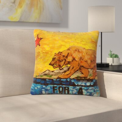 Nathan Gibbs Art For a Public Bear Outdoor Throw Pillow Size: 16 H x 16 W x 5 D