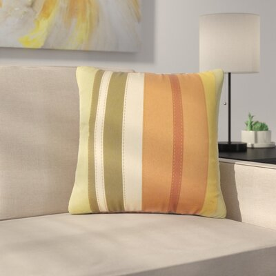 Sonnier Striped Down Filled 100% Cotton Throw Pillow Size: 18 x 18