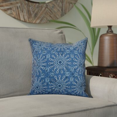 Clarence Geometric Outdoor Throw Pillow Size: 18 H x 18 W x 2 D, Color: Blue