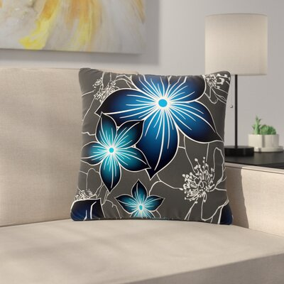 Alison Coxon Outdoor Throw Pillow Color: Cobal, Size: 16 H x 16 W x 5 D