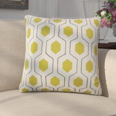 Edmondo Geometric Cotton Throw Pillow Color: Light Green