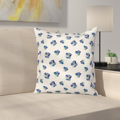Waterproof Floral Graphic Print Square Pillow Cover Size: 18 x 18