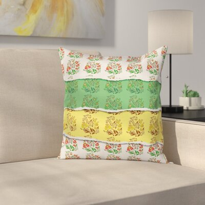 Waterproof Floral Square Pillow Cover Size: 18 x 18