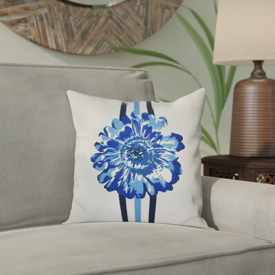 Willa Flower Child Throw Pillow Size: 16 H x 16 W, Color: Blue