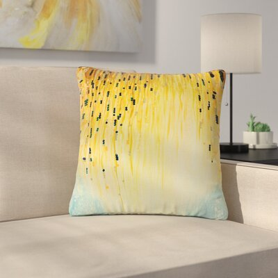 Ebi Emporium Mystic Garden Outdoor Throw Pillow Size: 18 H x 18 W x 5 D, Color: Yellow