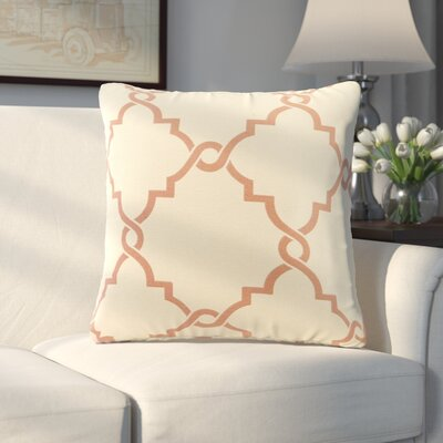 Allard Fretwork Throw Pillow Color: Spice