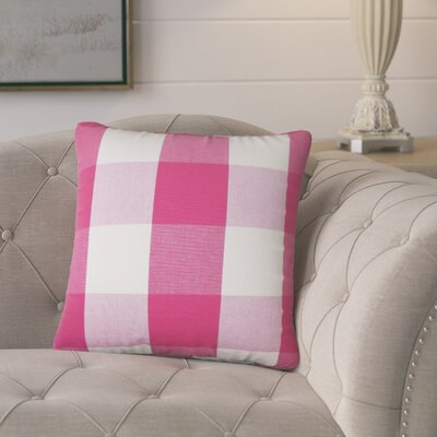 Hortensia Plaid Cotton Throw Pillow