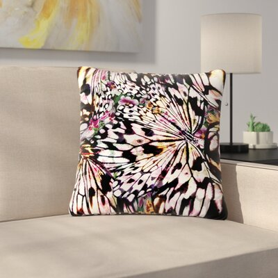 Louise Machado Butterfly Wings Outdoor Throw Pillow Size: 16 H x 16 W x 5 D
