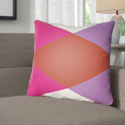 Wakefield Ii Throw Pillow Size: 18 H x 18 W x 4 D, Color: Red