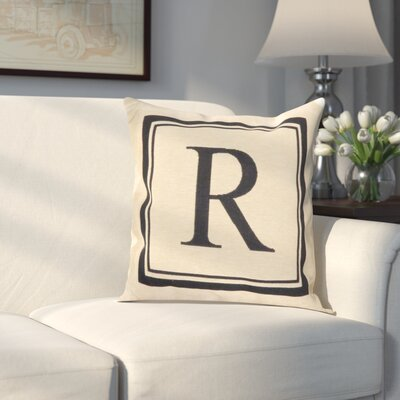 Beaver Creek Monogram Throw Pillow Letter: R