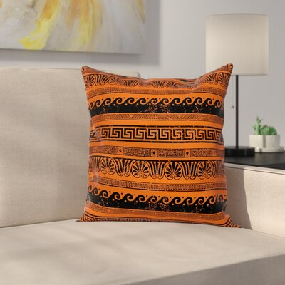 Old Border Ornaments Square Cushion Pillow Cover Size: 18 x 18