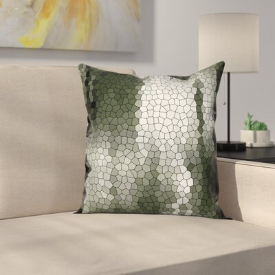 Stain Resistant Graphic Print Pillow Cover Size: 24 x 24
