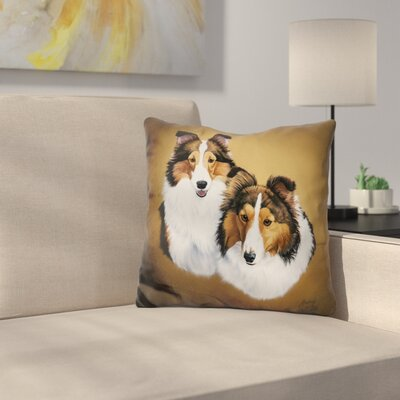 Collies Throw Pillow