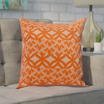 Carmean Throw Pillow Color: Orange, Size: 16 x 16