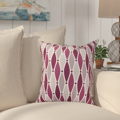 Cedarville Wavy Throw Pillow Size: 16 H x 16 W, Color: Purple