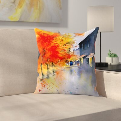 Autumn Evening Throw Pillow Size: 18 x 18