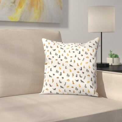 Elena ONeill Little Cats Throw Pillow Size: 16 x 16