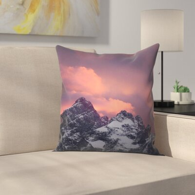 Luke Gram Grand Tetons Wyoming Iii Throw Pillow Size: 20 x 20
