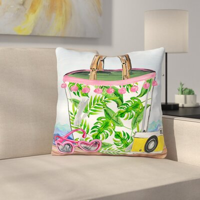 Tedeschi Tropical Bag Throw Pillow Size: 18 x 18