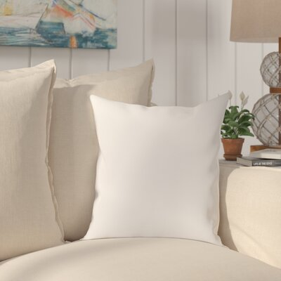 Chichester 100% Cotton Throw Pillow Color: White, Size: 18