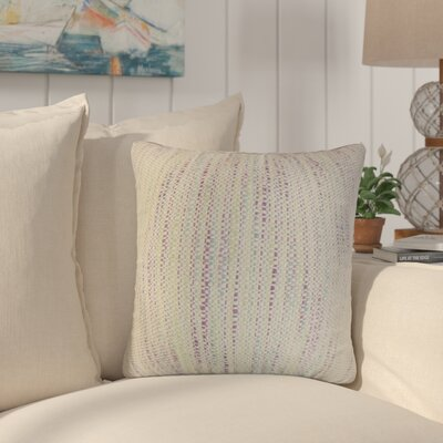 Lafitte Stripes Cotton Throw Pillow Color: Plum