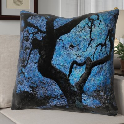Ghost Train Modern Japanese Maple Tree Throw Pillow Size: 36 H x 36 W