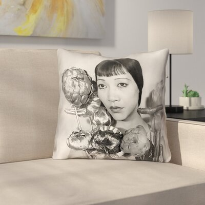 100% Cotton Throw Pillow Size: 18 x 18