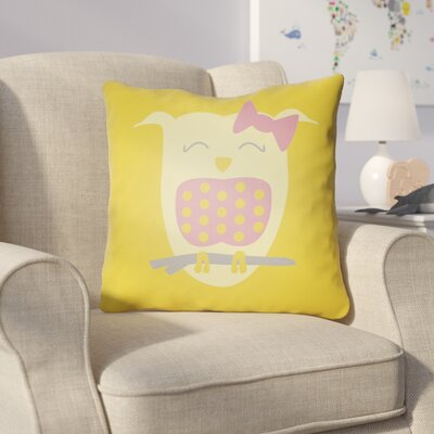 Colinda Owl Throw Pillow Size: 20 H x 20 W x 4 D, Color: Yellow