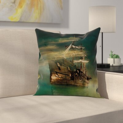 Ship Pillow Cover Size: 18 x 18