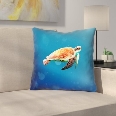 Sea Turtle Double Sided Print Throw Pillow Size: 16 x 16