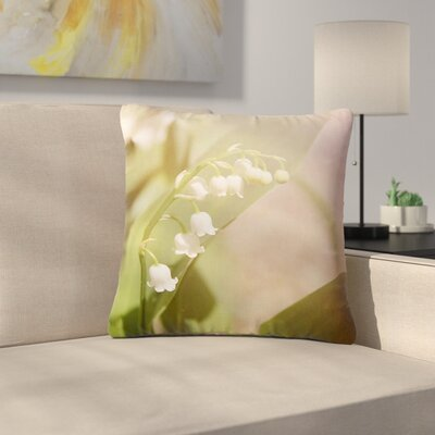 Angie Turner Lily of the Valley Outdoor Throw Pillow Size: 16 H x 16 W x 5 D