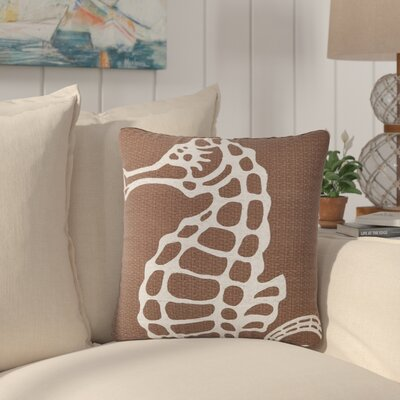 Barajas Seahorse 100% Cotton Throw Pillow