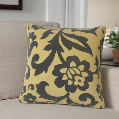 Sammi Floral Throw Pillow Color: Yellow