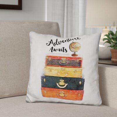 Glantz Adventure Awaits Throw Pillow