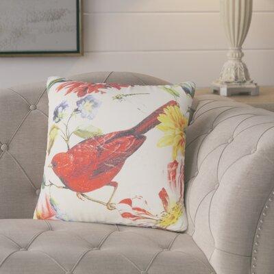 Benally Bird Flower Throw Pillow